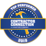 Contractor Connection Top Performer Award - 2019